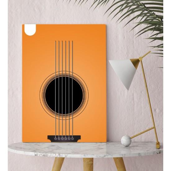 Bitmeyen Kartuş Bk Gift Gitar Tasarımlı Kanvas Tablo 30X50CM-3