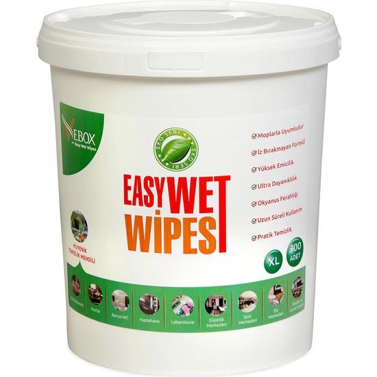 Vebox Easy Wet Wipes Islak Kova Mendil 300'LÜ