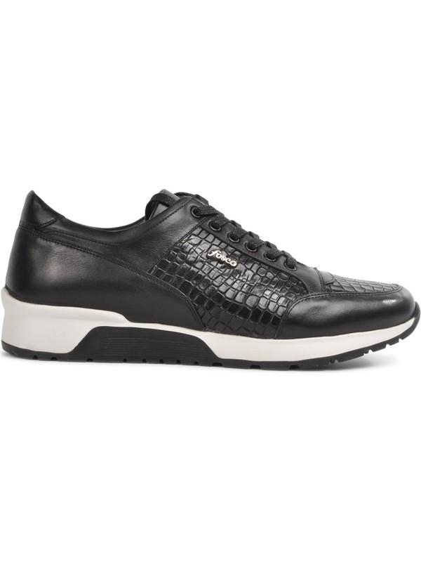 Fosco 2550 Siyah Deri Erkek Casual Ayakkabı