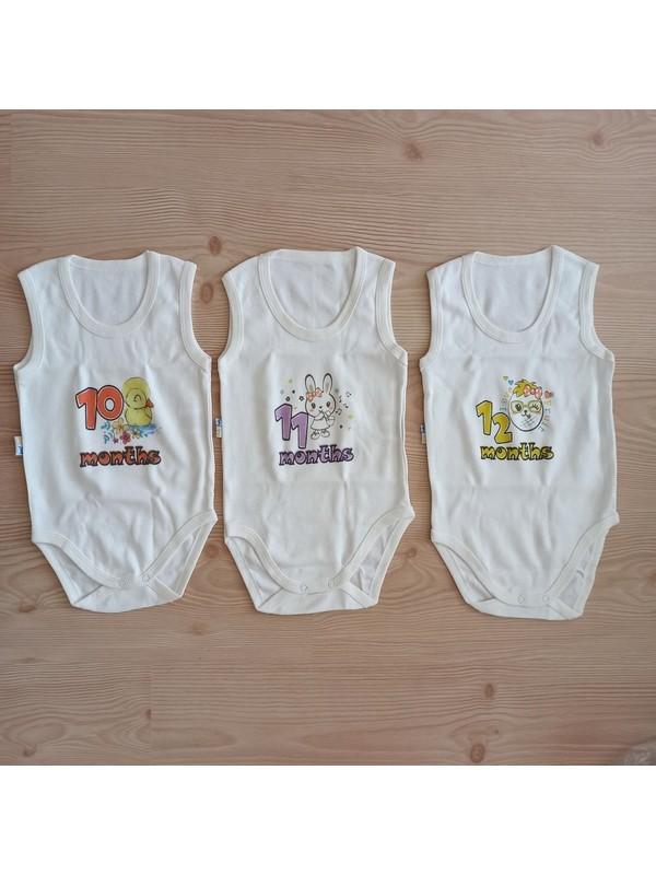 Pinky Pinky 1-12 Ay Kız Bebek Kısa Kollu Zıbın Seti-Sevimli HAYVANLAR-120366