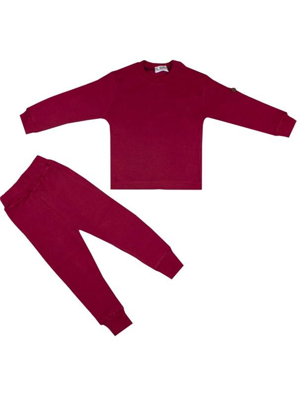 Nono Baby Erkek Çocuk Pijama Takımı Renkli Modelli - Bordo - 2 Yaş
