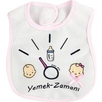 Baby Bibs Yemek Zamanı Pembe Bebek Mama Önlüğü