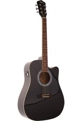 Washburn WA90CEB Elektro Akustik Gitar