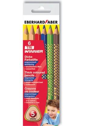 Eberhard Faber Tri Winner Üçgen Gövde Jumbo Boya Kalemi 6 Renk
