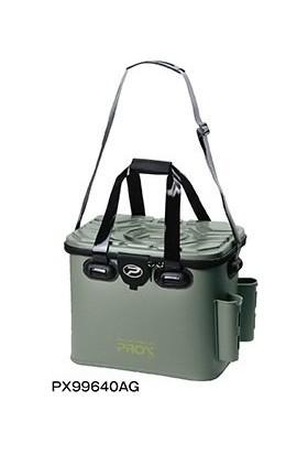 PROX Eva Tackle Bag With Rod Holder Yeşil Malzeme Çantası 40 cm