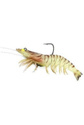 PROX Viceo Swim Bait Shrimp Nama Silikon Karides 4.3 Inç Redbee Glow