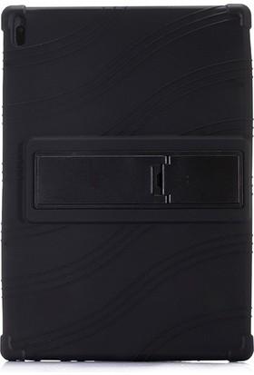 Ssmobil Lenovo Tab E10 TB-X104F Tab 4 10.1 Inch Tablet Standlı Silikon Kılıf