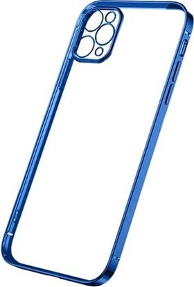 Ssmobil Iphone 12 Pro 6.1 Metal Görünümlü Darbeye Dayanıklı Silikon Kılıf