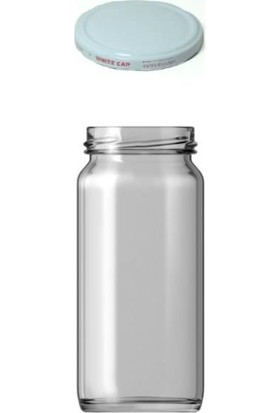 Şişecam 244 cc Cam Kavanoz Beyaz Kapaklı - 48 Adet