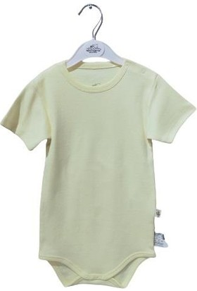 Albimini Minidamla Penye Yarımkol Bebe Body (2-3-4 Yaş) 43201 Sarı