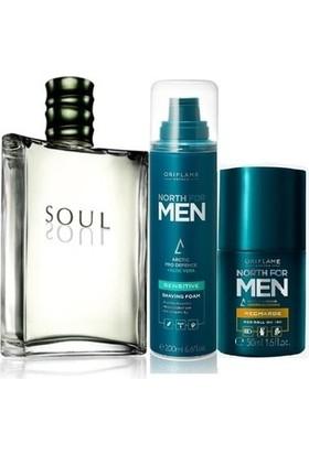 Oriflame Soul Erkek Parfüm 100 ml Tıraş Köpüğü Roll On 3 Lü Set