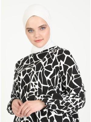 Zenane Desenli Tunik - Siyah - Zenane