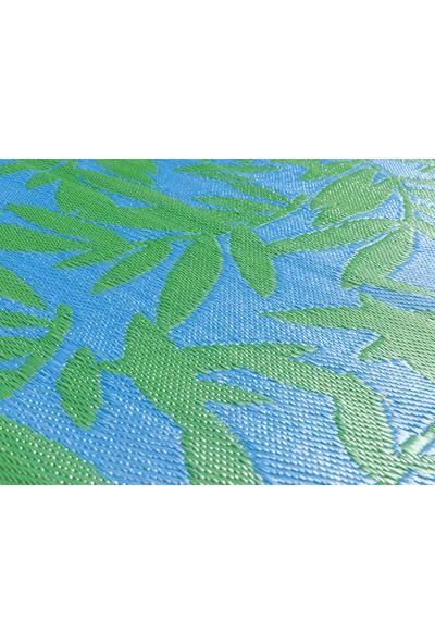 English Home Leaf Me Alone Polipropilen Plaj Hasırı 90X180 cm Mavi - Yeşil