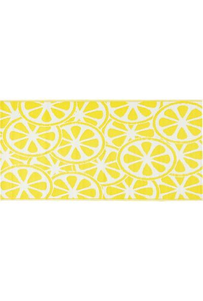English Home Lemon Polipropilen Plaj Hasırı 90X180 cm Sarı