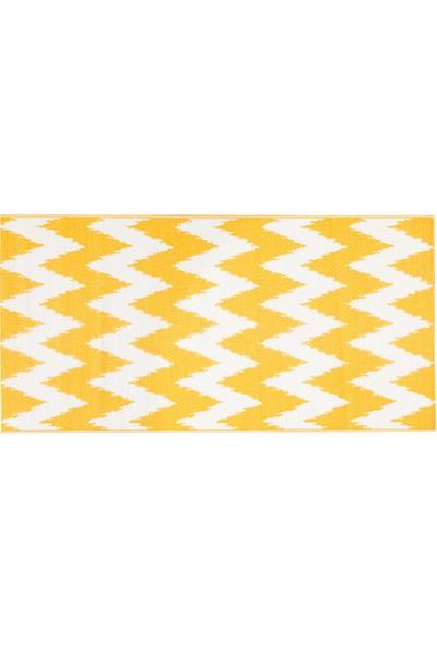 English Home Chevron Polipropilen Plaj Hasırı 90X180 cm Beyaz - Turuncu