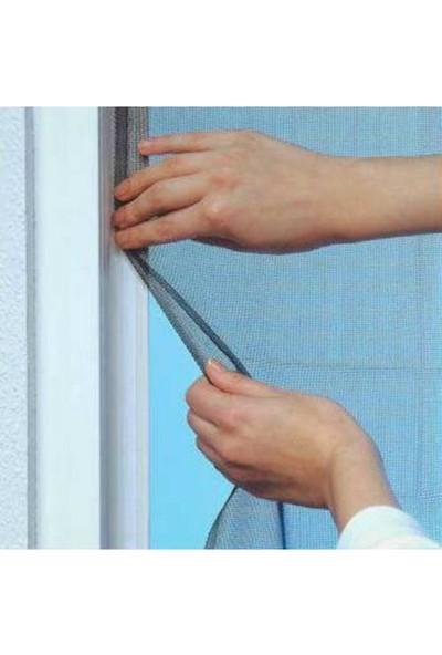 Omak Geniş Pencere Sinekliği Sinek Böcek Tülü Kendinden Yapışkanlı Cırtlı Sineklik 130X150 cm