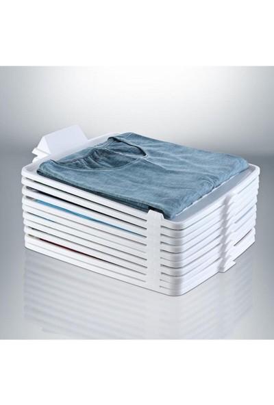 Decobella Plastik T-Shirt Düzenleyici, Gömlek,elbise,dolap Organizer 5 Adet