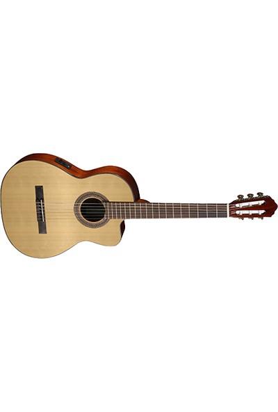 Cort AC120CEOPW Elektro Akustik Gitar, Kılıflı, Open Pore, Ladin