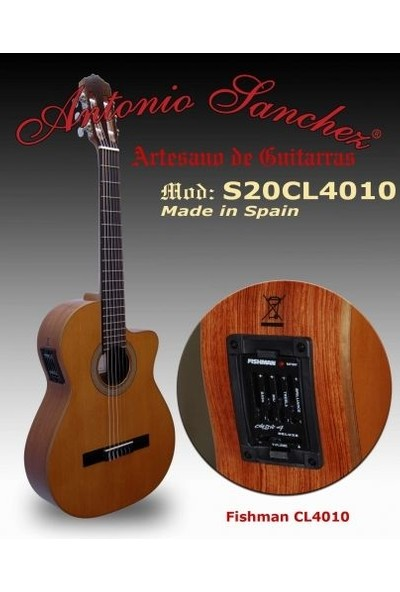 Antonio Sanchez S20CL4010 Elektro Klasik Gitar