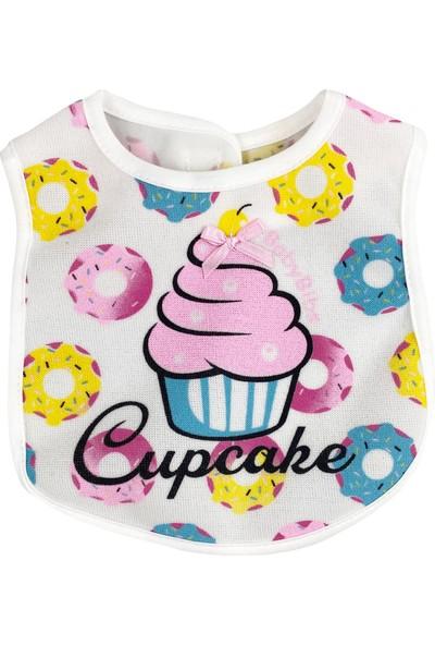 Baby Bibs Cupcake Pembe Bebek Mama Önlüğü