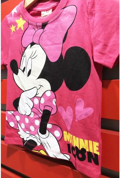Minnie Mouse Kız Çocuk Lisanslı Baskılı Tişört