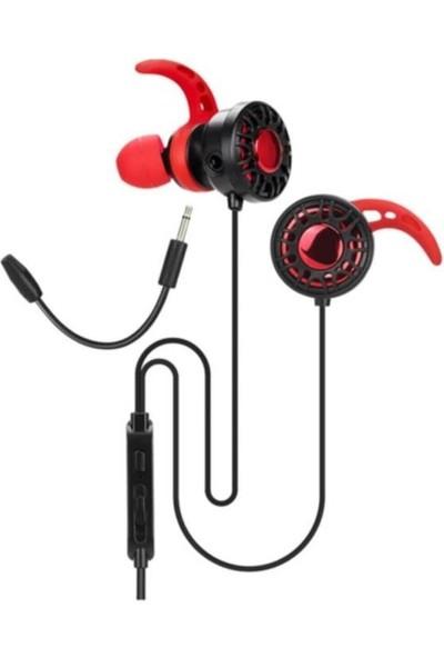 Alp Collection Siyah Mikrofonlu Kablolu Stereo Kulak Içi Oyuncu Kulaklığı