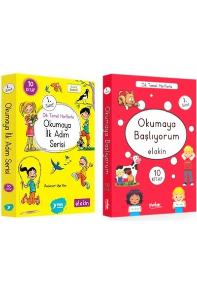 1. Sınıf Hikaye Kitapları 20 Kitap Set / Okumaya Ilk Adım Serisi - Okumaya Başlıyorum Serisi Elakin