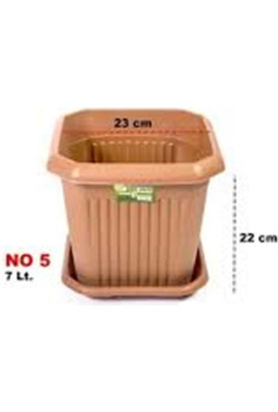Plastik Kare Saksı 7 Lt 3 Adet