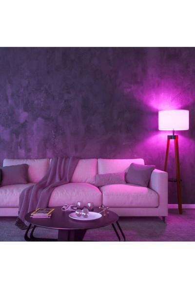 Rgb LED Uzaktan Kumandalı Renk Değiştiren Ampul 10 Watt Renkli ve Beyaz