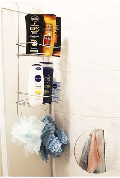 Laısy Home Duşakabin Askılı Düz Banyo Rafı Duş Askısı