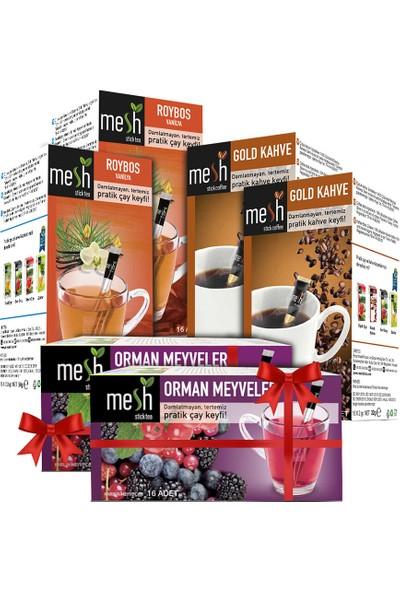 Mesh Stıck 6' Lı Paket Bir Arada Avantaj Kombisi (2 Roybos Çayı+2 Gold Kahve+2 Orman Meyveli )