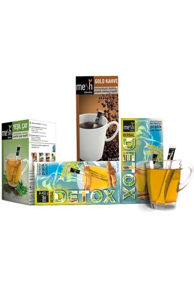 Mesh Stick Fit Paket ( 2 Detox Çayı + 1 Yeşil Çay + 1 Gold Kahve )