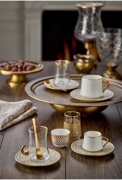 Koleksiyon Sufi Türk Kahvesi Seti 6'lı Ikat Altın