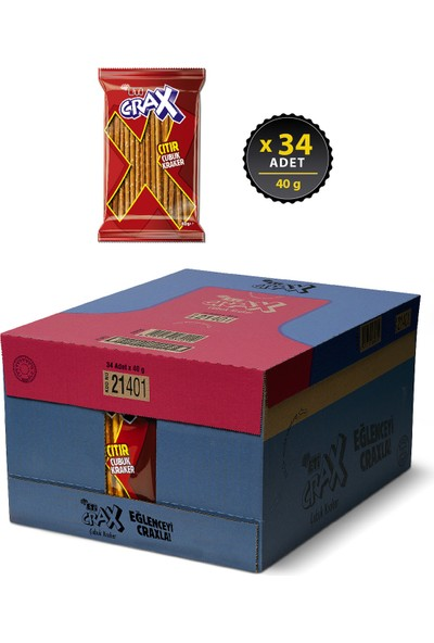 Eti Crax Sade Çubuk Kraker 40 g x 34 Adet