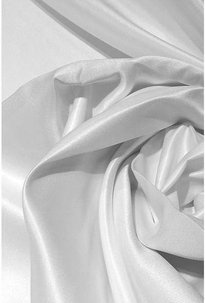Evdepo Home Lüx Atlas Saten Beyaz Güneşlik Perde - 140X240 cm