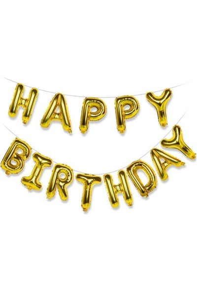 BeySüS Happy Birthday Folyo Balon Gold