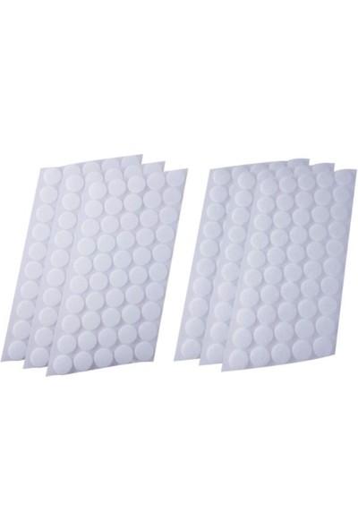 Hdg Yuvarlak Kesim Para Para, Cırt Bant Seti Beyaz Arkası Yapışkanlı - 1 cm Çap - 1000 Adet Takım