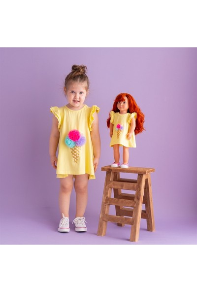 Isabel Bebeğim ve Ben Elbise / Sarı Ice Cream