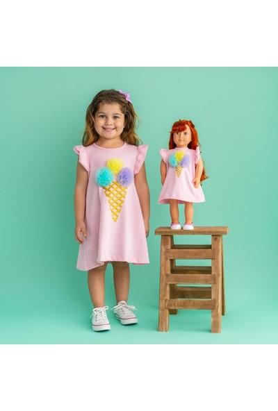 Isabel Bebeğim ve Ben Elbise / Pembe Ice Cream