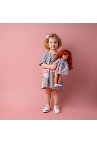 Isabel Bebeğim ve Ben Elbise / Gri Sarah Unicorn