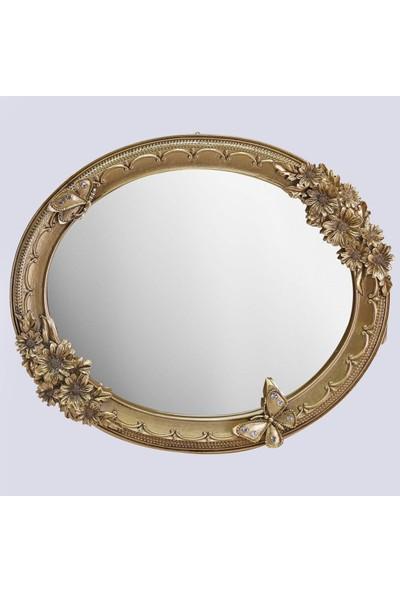 Selim Akasya 3'lü Ayna Altın