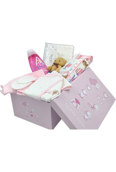 Ambalajist Bebek Kutusu Pembe Sevimli Bebekler 4 No Yeni Doğan Hediyelik Ürünler