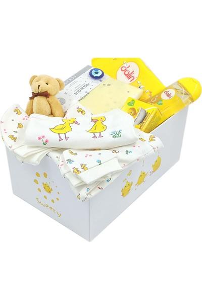 Ambalajist Bebek Kutusu Sarı Civcivler 4 No Yeni Doğan Hediyelik Ürünler