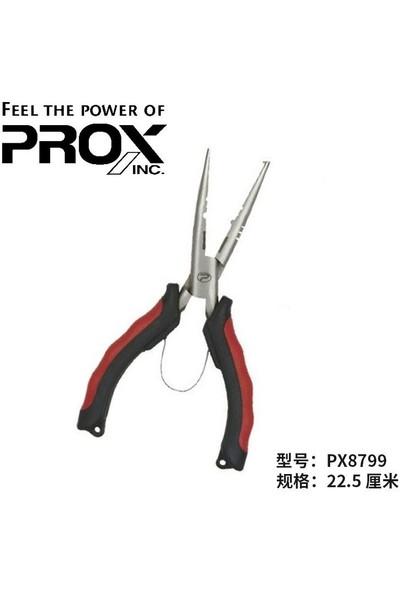 PROX Sprit Ring Straight Pliers Halka Açıcı ve Misine Kesici Pense 22.5 cm