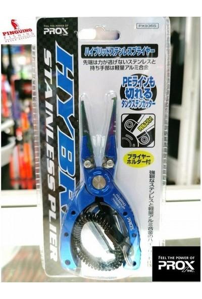 PROX Hybrid Stailess Pliers Hakla Açıcı ve Kesici Pense Large Mavi