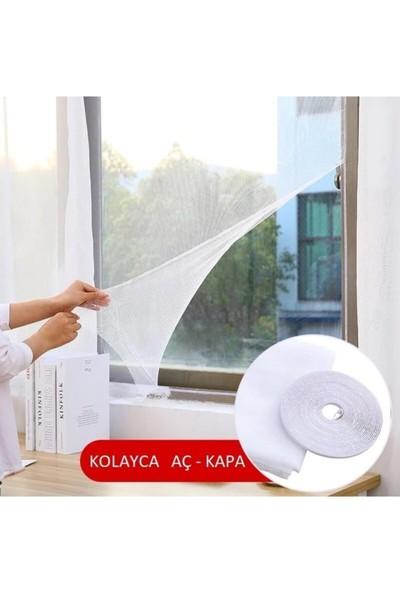 3 Adet Sineklik Yıkanabilir Pencere Sinekliği Cırt Bantlı Yapışkanlı 130CM x 150CM-SWATTER-WINDOWS