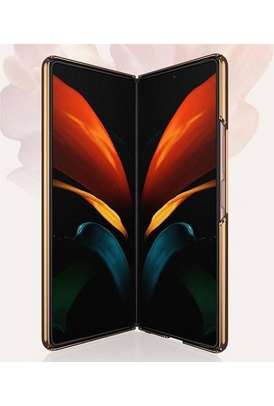 Ssmobil Samsung Galaxy Z Fold2 Kılıf Gkk Electroplating Painted Glass Kılıf