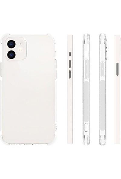 Ssmobil Iphone 12 6.1 Anti-Drop Silikon Kılıf Kamera Korumalı Şeffaf Silikon Kılıf