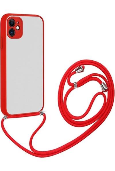Ssmobil iPhone 12 6.1 Askılı Koruyucu Silikon Kılıf