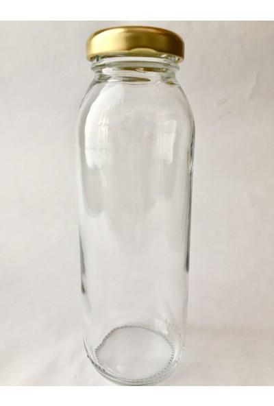 Şişecam 250 cc Cam Meyve Suyu Şişesi Kapaklı - 24 Adet - 250 ml Gazsız Meyve Suyu Şişesi